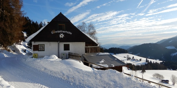 Sonnleitnerhütte im Winter