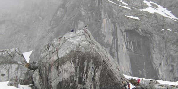 Übungfels auf dem Weg zum Blaueisgletscher