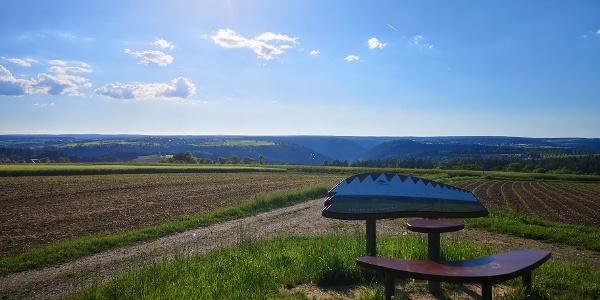 Aussicht vom Naturpark-Augenblick bei Holzbronn