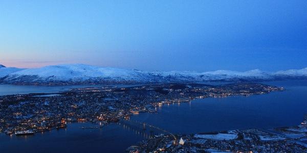 View from Fløya, Tromsø
