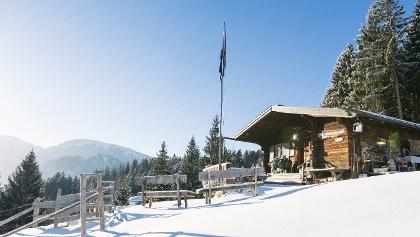 Hündeleskopfhütte im Winter