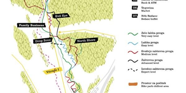 Bike park Kranjska Gora map