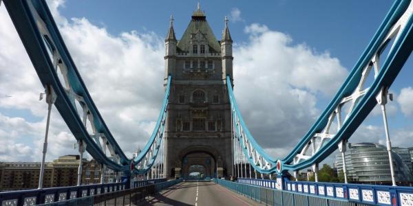 London - Tower Bridge, heute Verkehrsfrei