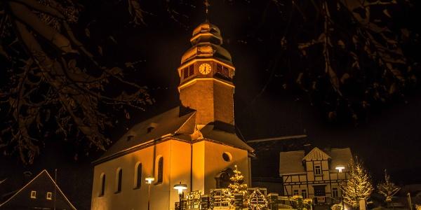 Ortsmitte Nordenau im Winter