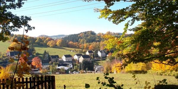 Blick auf das Schachdorf