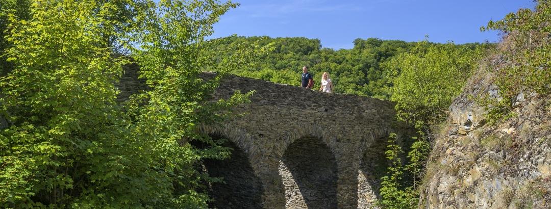 Brücke zur mittelalterlichen Schmidtburg