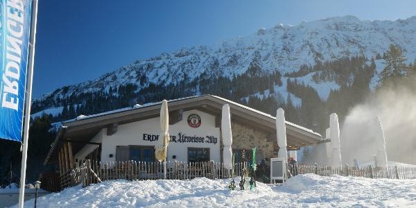 Die Erdinger Urweisse Alp im Winter