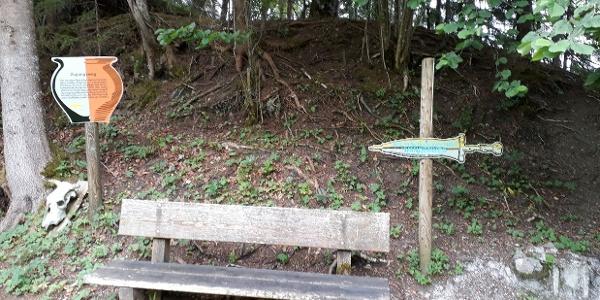 Archäologiepfad beim Luserwasserfall - Ausgangspunkt