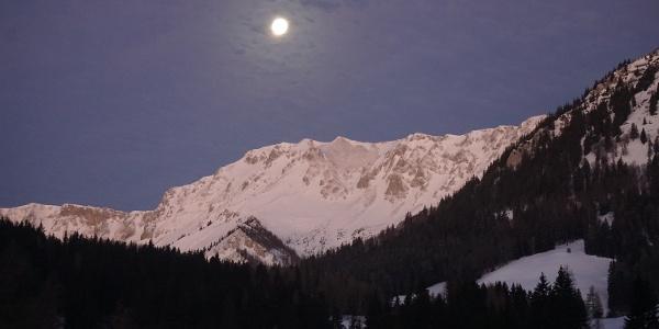 Monduntergang über den Aflenzer Staritzen