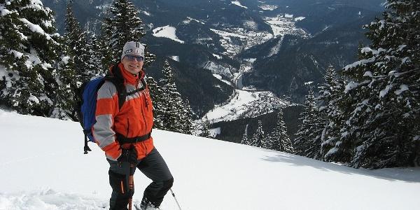 Blahstein: Abfahrt mit Aussicht nach Krampen und Neuberg