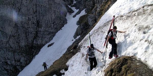 Breite Ries: Aufstieg über den Fadensteig