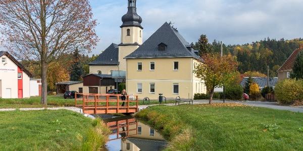 Kammweg an der Ringwallanlage in Bobenneukirchen / Vogtland