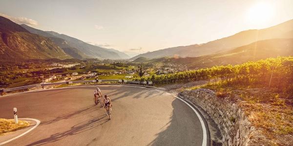 Salquenen avec cyclists