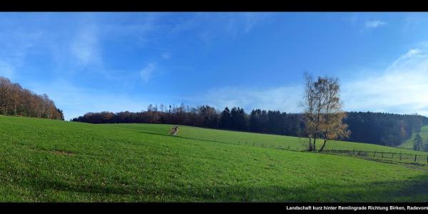 Landschaft kurz hinter Remlingrade Richtung Birken