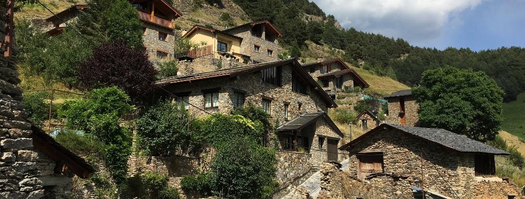 Pueblo de montaña en Andorra