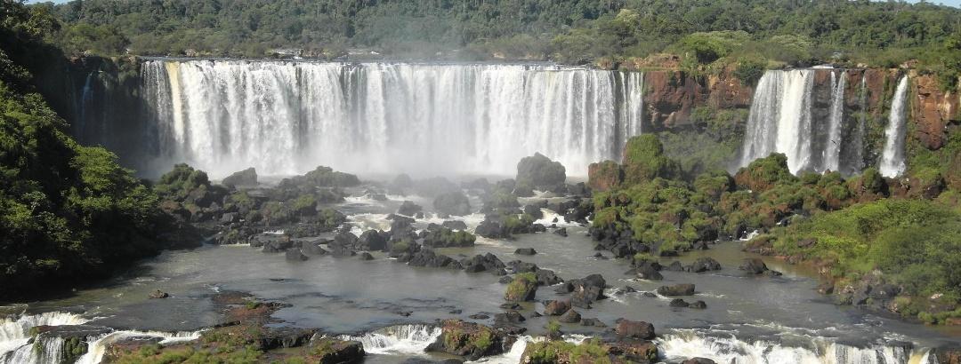 Iguazu Falls on the border of Brasil and Argentina