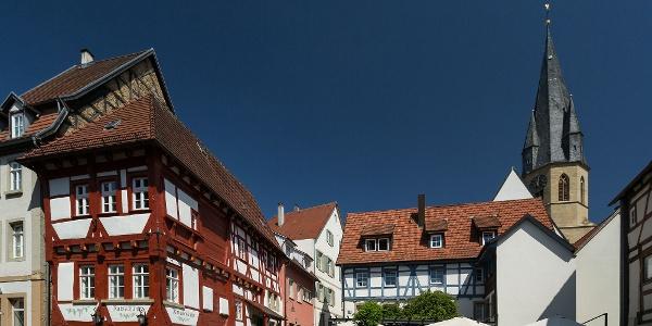 Ratsschänke u. mittelalterlicher Marktplatz in Eppingen