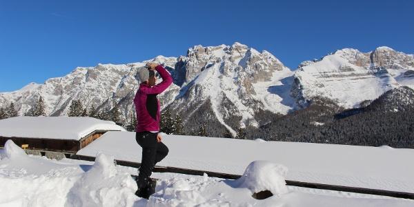 Panorama sulle Dolomiti da Cascina Zeledria
