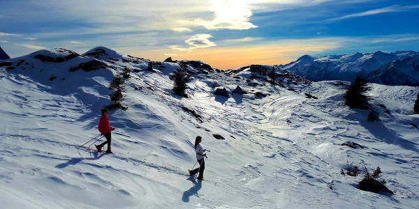 Snowshoeing in Spinale areas