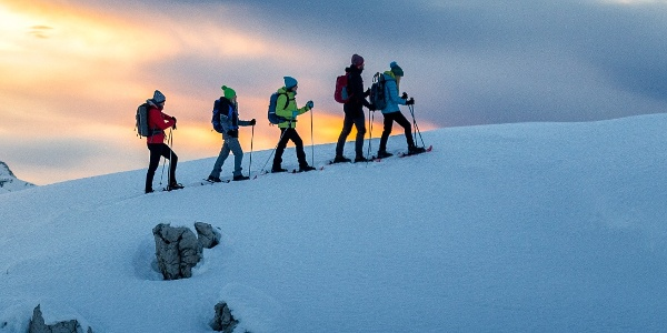 Excursion with snowshoes to Madonna di Campiglio