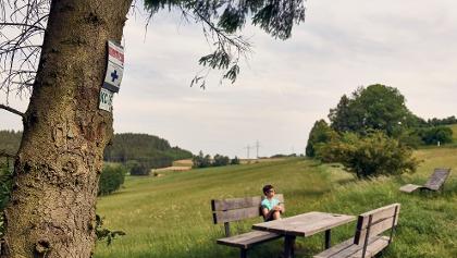 Rast auf dem FrankenwaldSteig