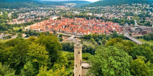 Blick auf die historische Altstadt von Hann. Münden