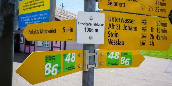 Toggenburger Höhenweg Etappe1 Talstation Oberdorf
