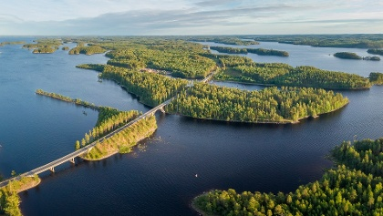 Lake Saimaa is the fourth largest fresh water lake in Europe and the largest lake in Finland, connecting many of the larger towns of Finnish Lakeland