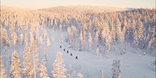 Talvipyöräily, Ylläs, 2020