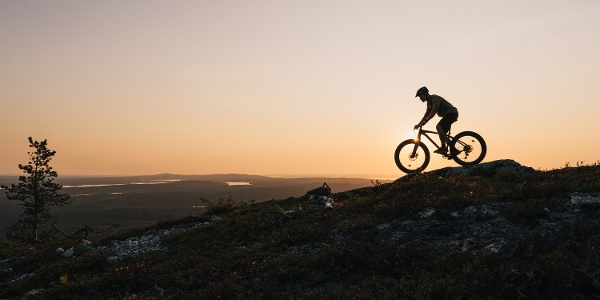 Downhill biker at Ruka, Kuusamo, Lapland
