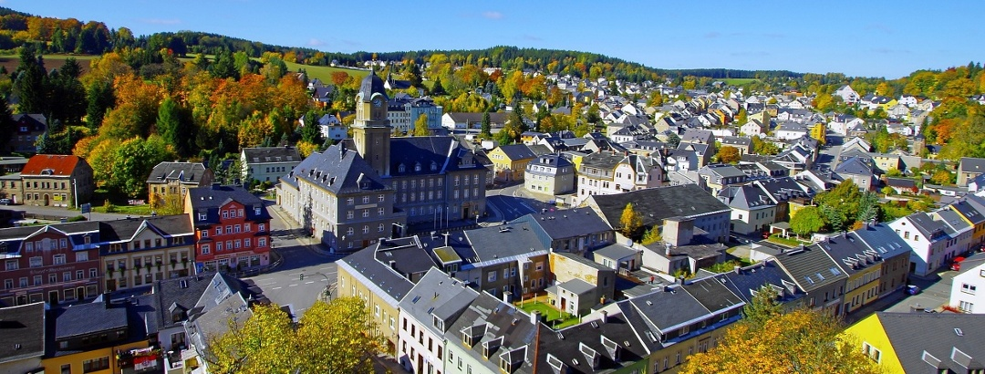 Blick auf die Bergstadt Geyer