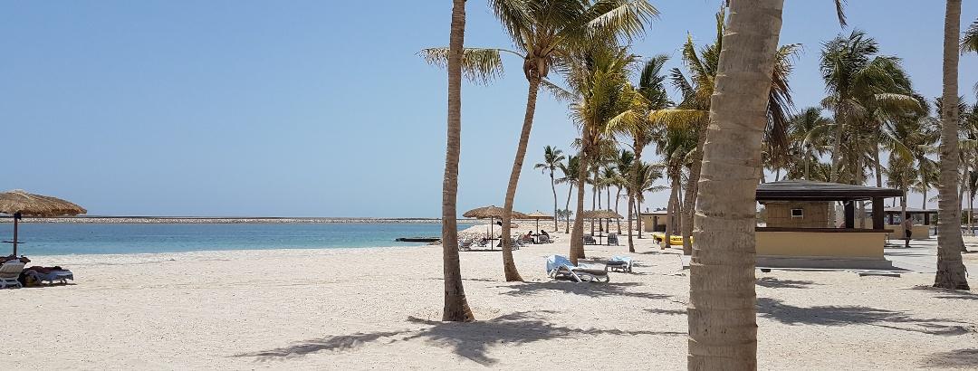 Typischer Strandabschnitt bei Salalah