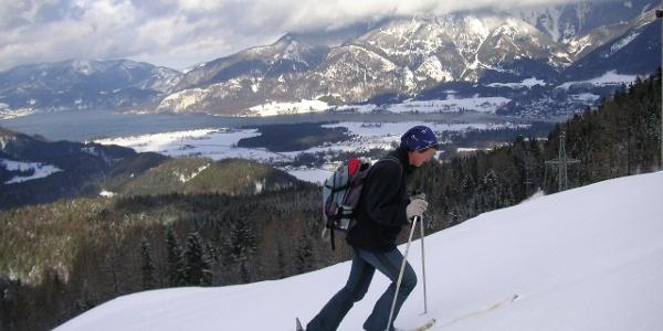 Am Rücken über Vitz am Berg und Wolfgangsee