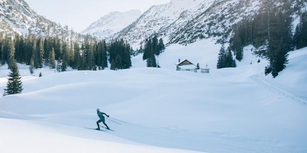 Langlaufen im Winter ins Zugertal