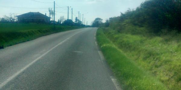 Boucle à vélo sur route dans l'ouest Toulousain
