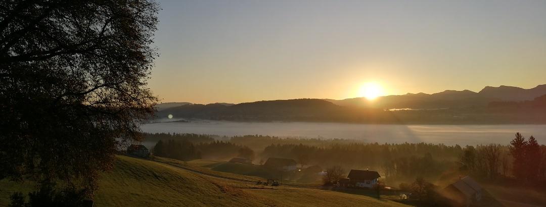 Blick von Lindenberg Richtung Nagelfluh-Kette