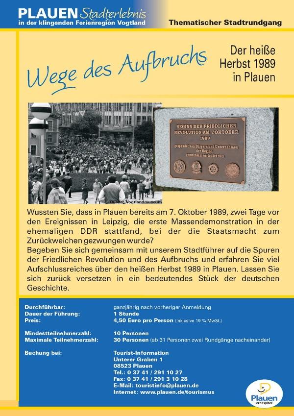 Wege des Aufbruchs - Stadtführung in Plauen