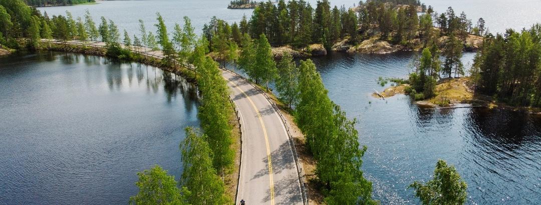 Cycle through the beautiful scenery of Saimaa