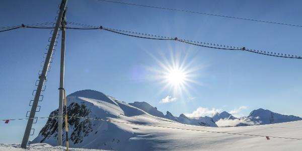 Von der Bergstation Kleinmatterhorn ist die Route bereits gut einzusehen
