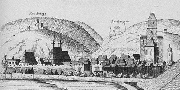 Baden - Kupferstich von Georg Matthäus Vischer