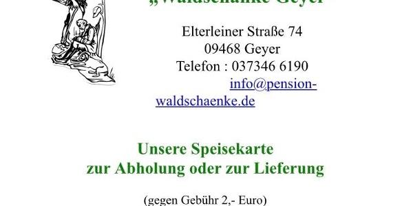 Informationen zum Abholservice von Waldschänke Geyer