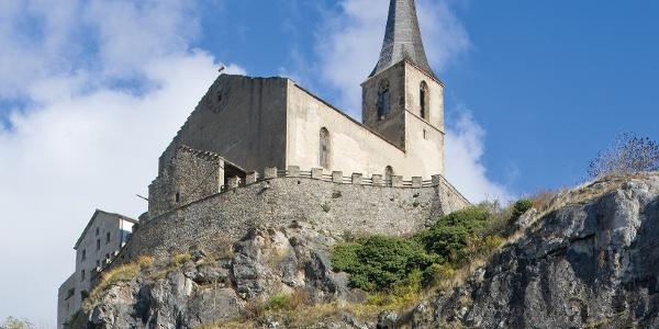 St-Romanus castle church overlooking its rock counterpart