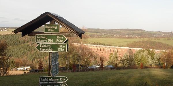 AWO Schullandheim Netzschkau Ausblick Brücke