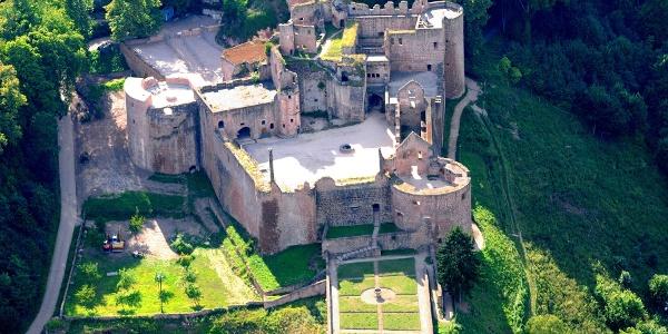 Luftbild Schloss- und Festungsruine Hardenburg