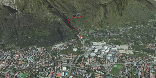 "mountain hike at Lake Garda: Equipped trail ""del Berghem"": Foci - Laste ..."