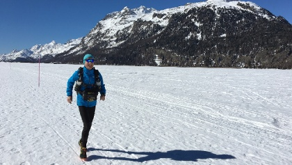 Trailrunning d'hiver sur le lac de Silvaplana