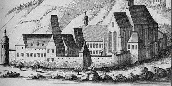 Säusenstein an der Donau - Stich Vischer aus 1672