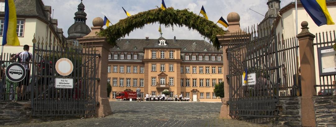 Blick auf Schlosshof