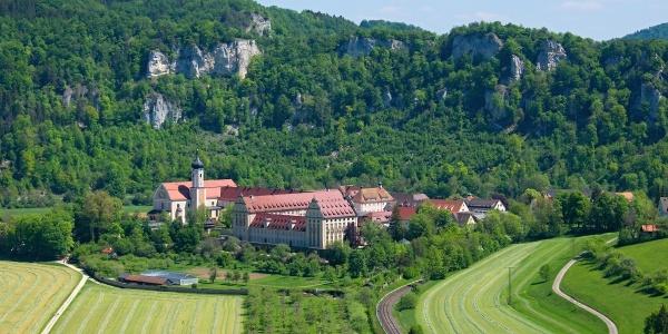 Blick auf Kloster Beuron