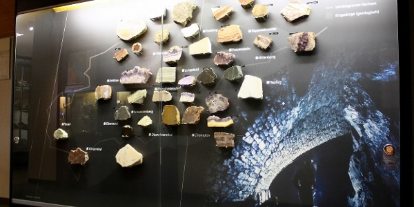 Mineralogisches Museum im Besucherbergwerk Zinngrube Ehrenfriedersdorf